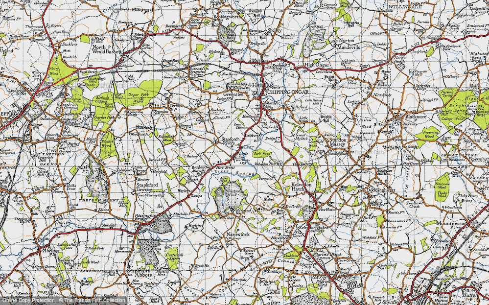 Old Map of Historic Map covering Aspen Wood in 1946