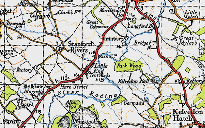 Old map of Aspen Wood in 1946