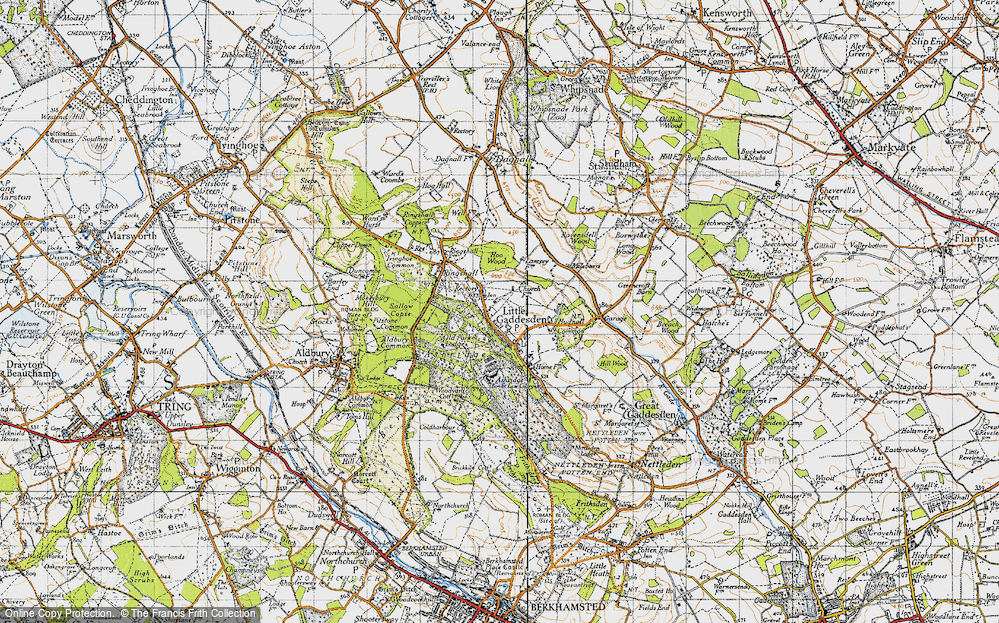 Old Map of Historic Map covering Ashridge (Coll) in 1946