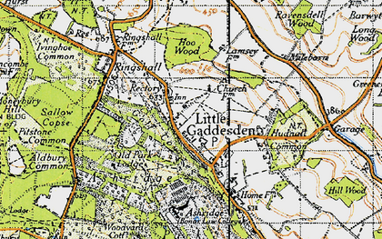 Old map of Ashridge (Coll) in 1946