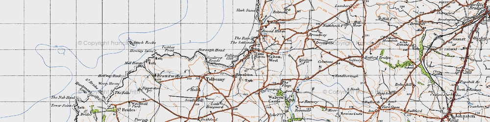 Old map of Little Haven in 1946