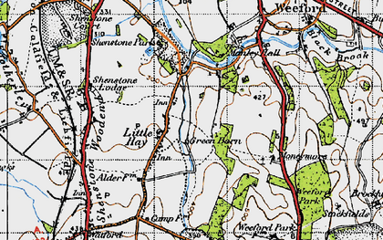 Old map of Moneymore in 1946