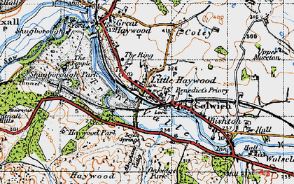 Old map of Abraham's Valley in 1946