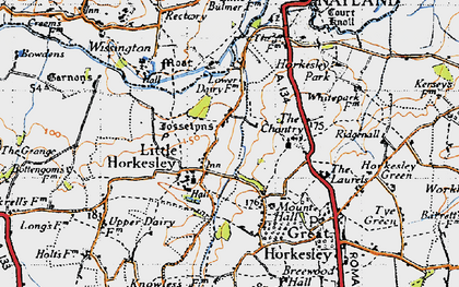 Old map of Wissington in 1945