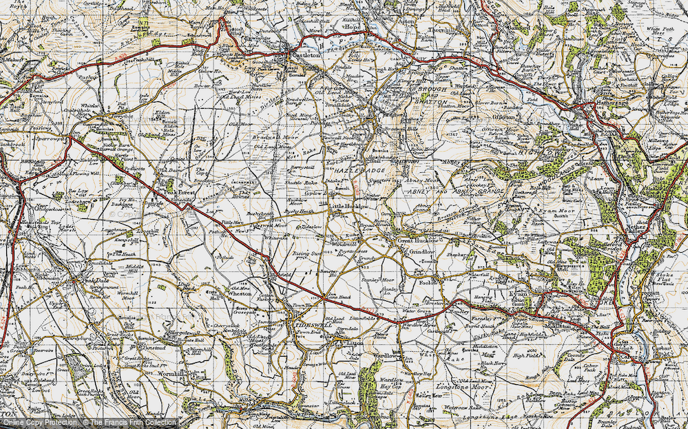 Old Map of Historic Map covering Whiterake in 1947