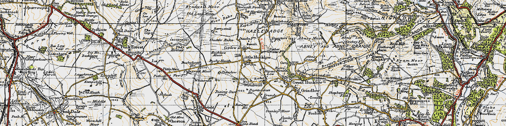 Old map of Whiterake in 1947