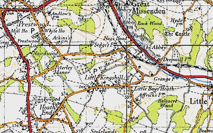 Old map of Little Kingshill in 1946