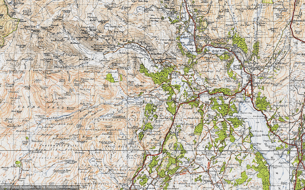Old Map of Little Langdale, 1947 in 1947