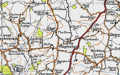 Old map of Ashford Lodge in 1946