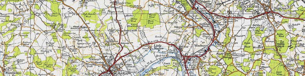 Old map of Westhorpe Ho in 1947
