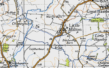 Old map of Little Milton in 1947