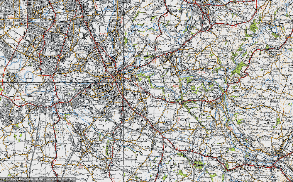 Old Map of Historic Map covering Woodbank Park in 1947