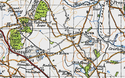 Old map of Adcote in 1947
