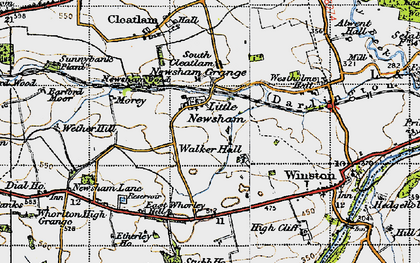 Old map of Westholme Hall in 1947