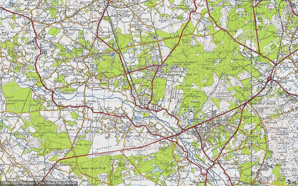 Old Map of Little Sandhurst, 1940 in 1940