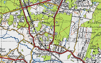 Old map of Wellington College in 1940