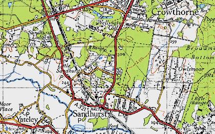 Old map of Little Sandhurst in 1940