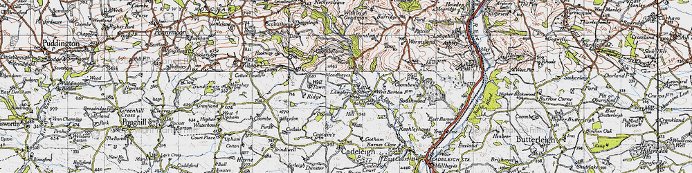 Old map of Wormsland in 1946