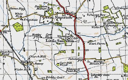 Old map of Westhorpe in 1947