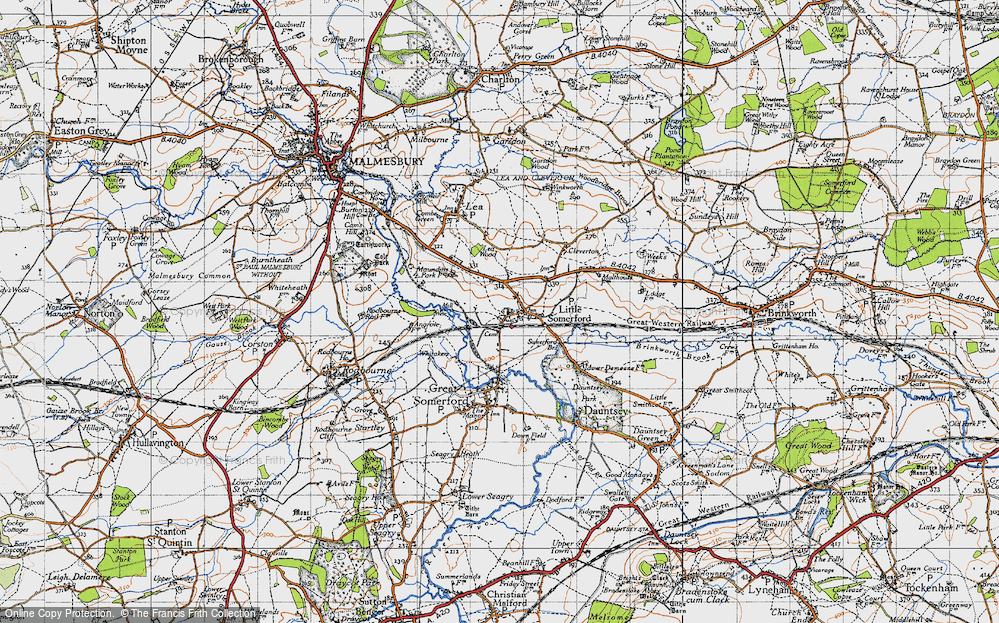Old Map of Little Somerford, 1947 in 1947