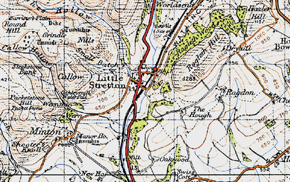 Old map of Ashes Hollow in 1947