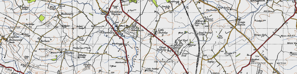 Old map of Alconbury Ho in 1946