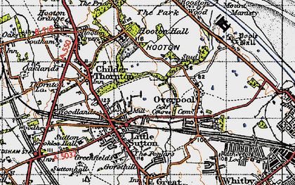 Old map of Little Sutton in 1947