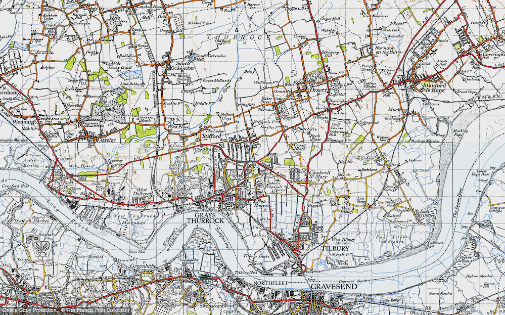 Old Map of Little Thurrock, 1946 in 1946