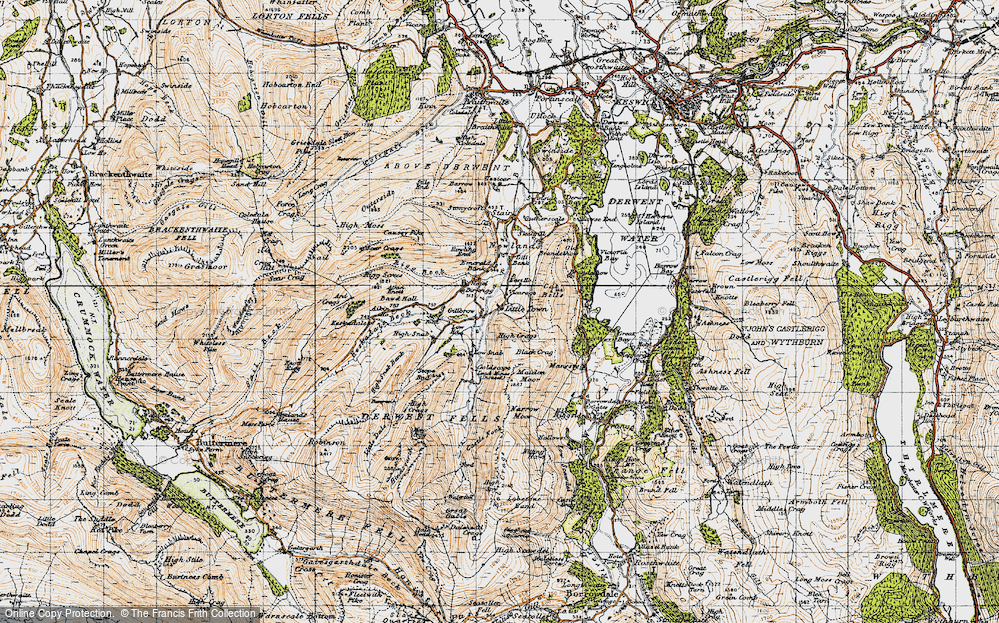 Old Map of Historic Map covering Aikin Knott in 1947