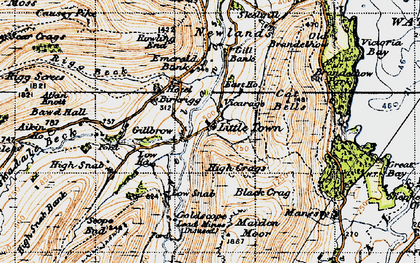 Old map of Aikin Knott in 1947
