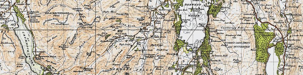 Old map of Aikin Knott in 1947