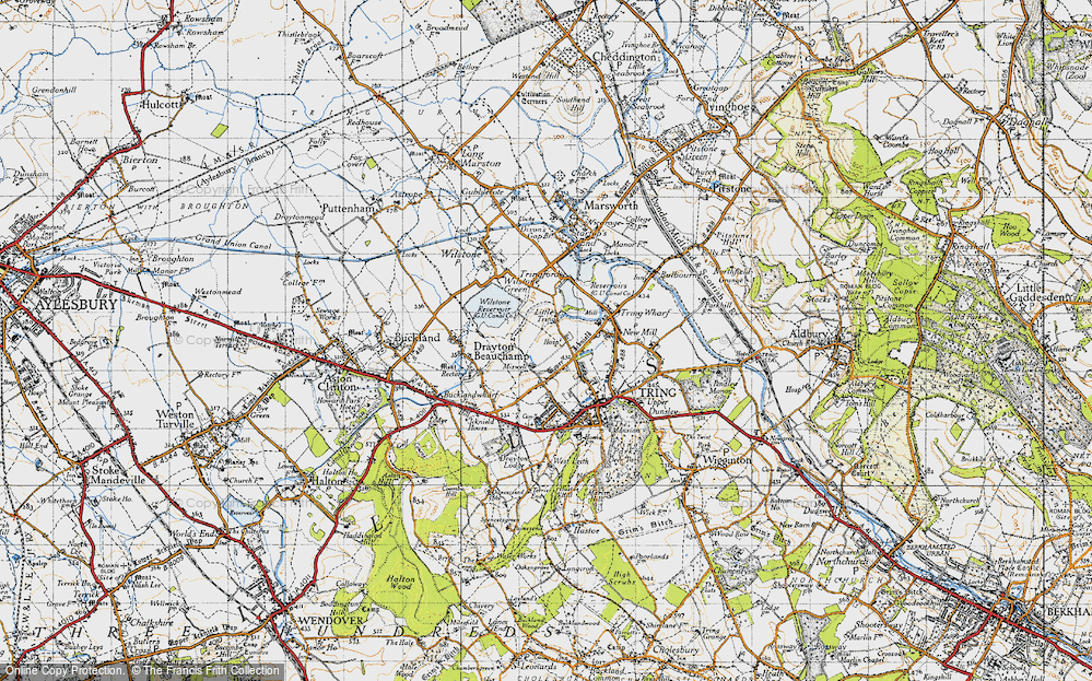 Old Map of Little Tring, 1946 in 1946