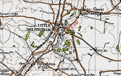 Old map of Little Walsingham in 1946