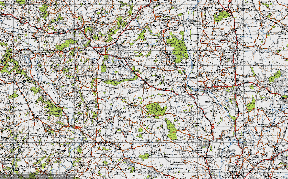 Old Map of Little Witley, 1947 in 1947