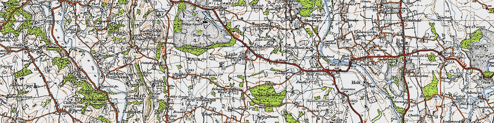 Old map of Little Witley in 1947