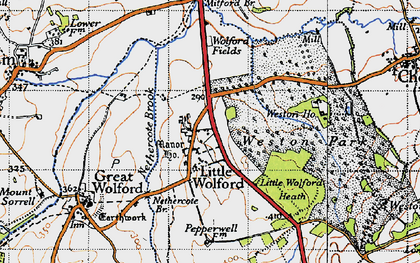 Old map of Weston Gardens in 1946
