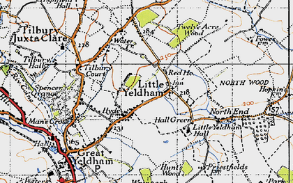 Old map of Tilbury Court in 1946