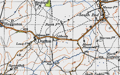 Old map of Lidcote Village in 1946