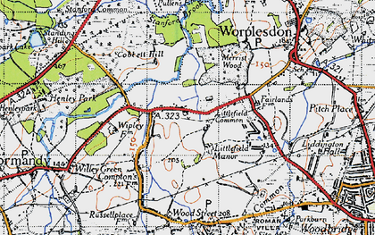 Old map of Whipley Manor in 1940