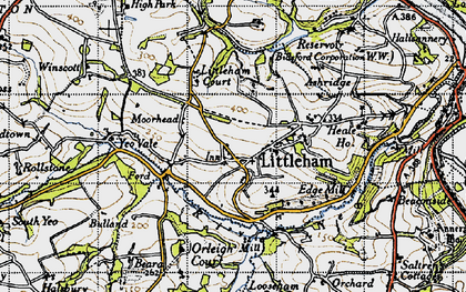 Old map of Littleham Court in 1946