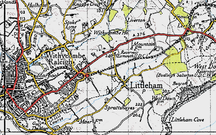 Old map of Littleham in 1946