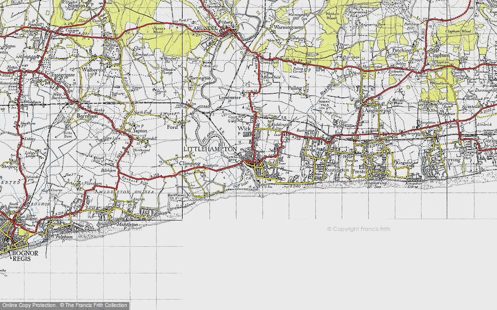 Map of Littlehampton 1945 Francis Frith