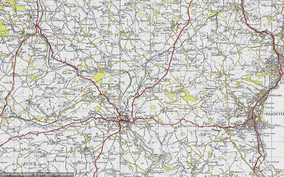 Old Map of Littlehempston, 1946 in 1946