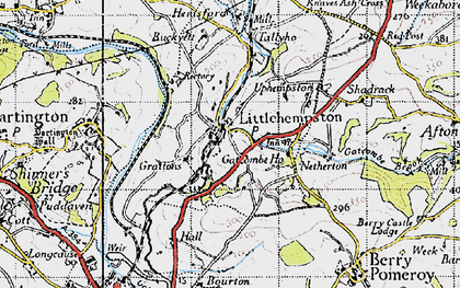 Old map of Littlehempston in 1946