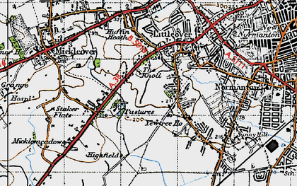 Old map of Littleover in 1946