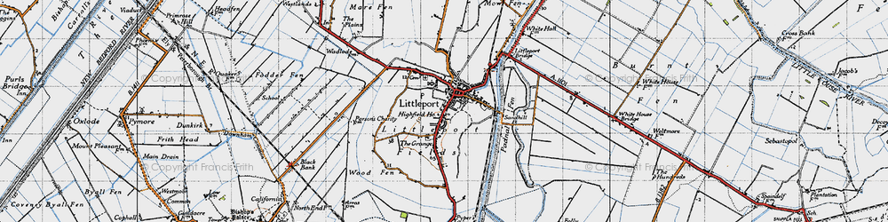 Old map of Wood Fen in 1946