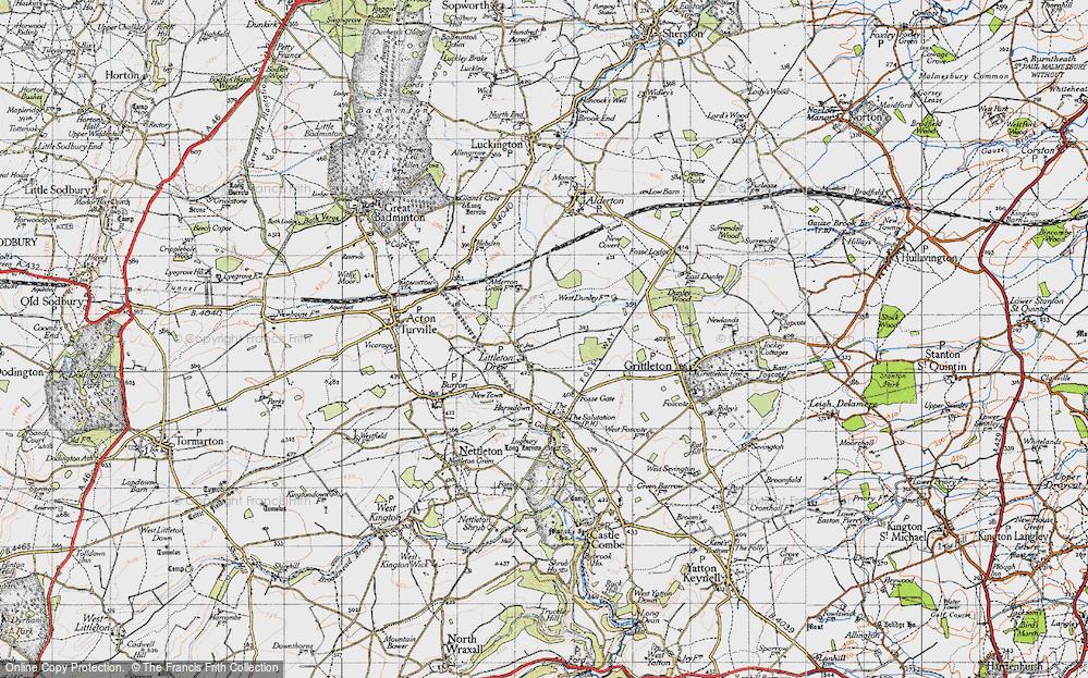 Old Map of Littleton Drew, 1946 in 1946