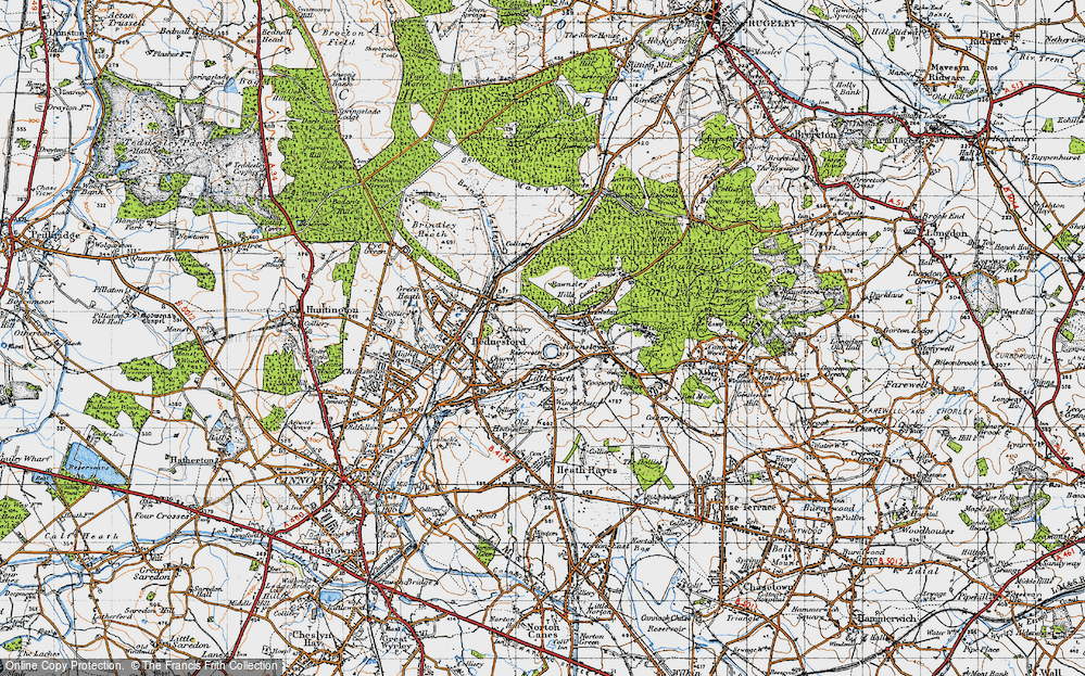 Old Map of Littleworth, 1946 in 1946