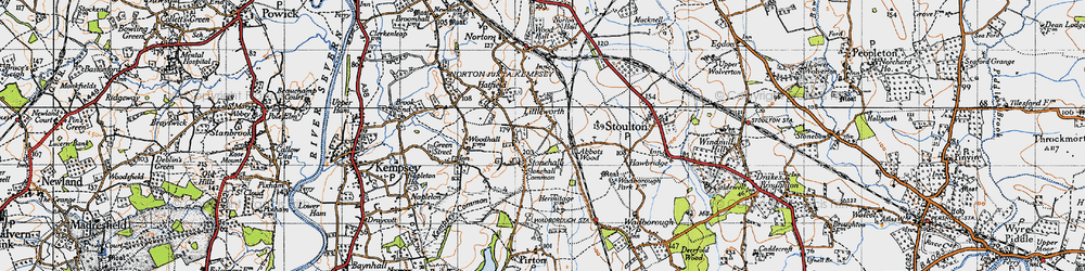 Old map of Abbotswood in 1947