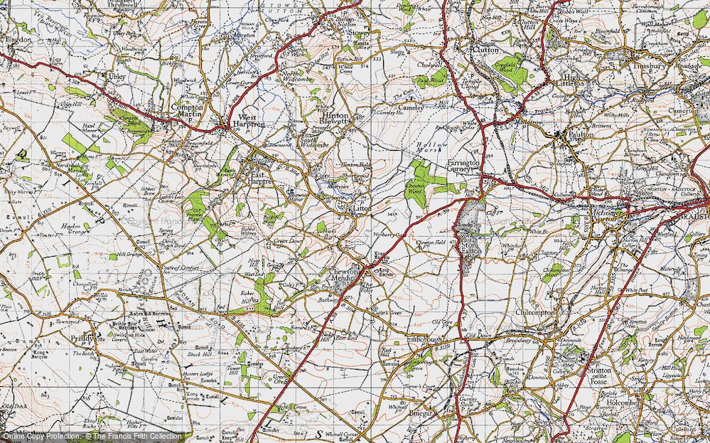 Old Map of Litton, 1946 in 1946